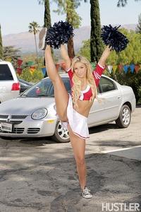 Carmen Caliente In Barely Legal Cheerleader Car Wash