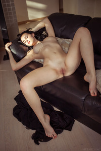Dark Haired Teen Anatali Shows Her Shaved Pussy