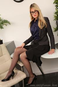 Round Assed Blonde Secretary Lola Strips