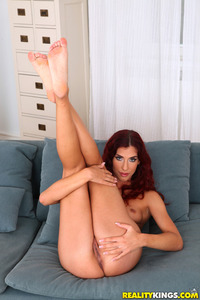 Hot Redhead Shona River Spreads Her Pussy
