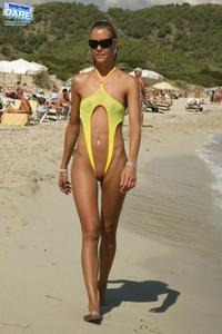 Dina yellow bikini
