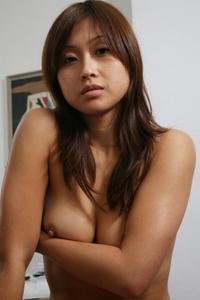 Shy asian lady