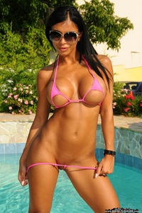 Pink bikini babe