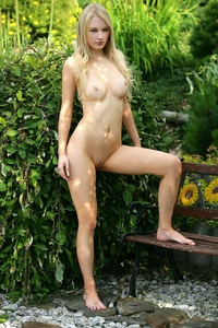 Cute virgin blonde Whitney by the lake