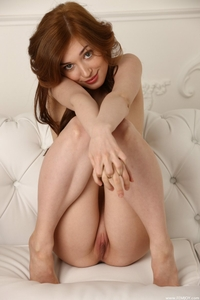 Tempting young brunette Judy teasing