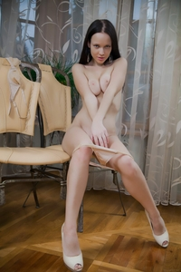 Tempting young Marica teasing at home