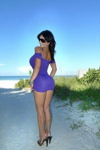 Denise purple dress