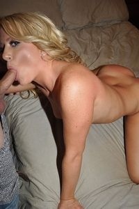 Hot blonde sucking