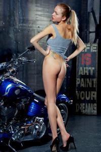 Hot Biker Lenayna