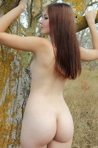 Redhead Nalli in the forest