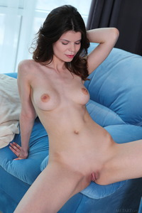 For Gorgeous Brunette Davina, Chilling Out Means Getting Naked.