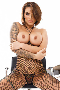 Gemma Massey In Her Fishnet Bodysuit Photos
