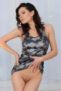 Gorgeous Suzanna A loves fashion and sculpture