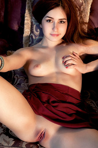 Kylie D Sure Looks Cute Tugging On Her Long, Auburn Hair